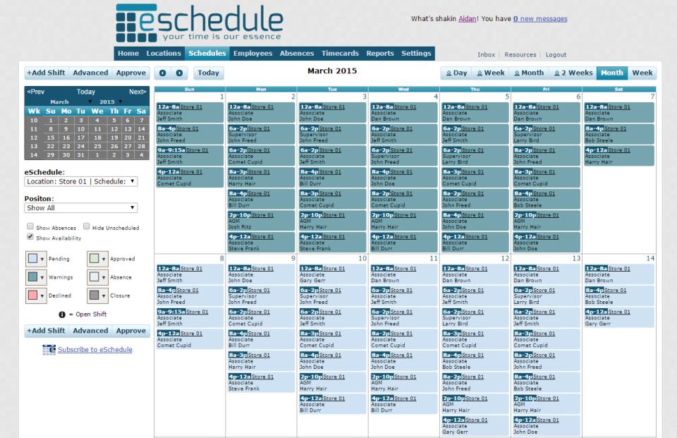 feed.kroger.com E-Schedule